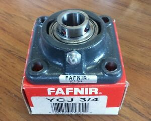 new Fafnir Flange Bearing Ycj 3 4 4 bolt 3 4 Bore