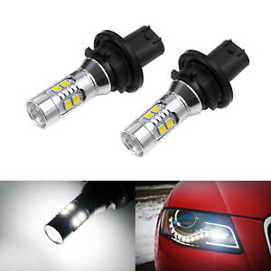 White Error Free Ph24wy Led Bulbs For Audi Cadillac Etc Front Turn Signal Lights