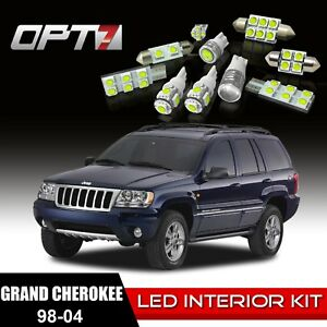 Opt7 12pc Interior Led Light Bulbs Package Kit For 98 04 Jeep Grand Cherokee
