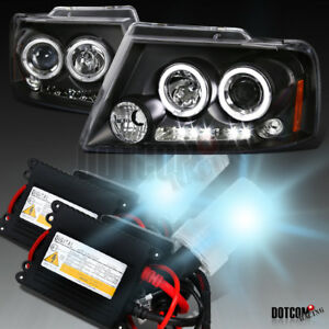 Hid Conversion Kit For 2004 2007 Ford F150 Black Halo Led Projector Headlights