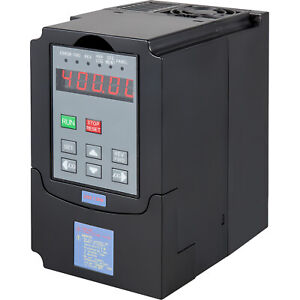 Vevor 1 5kw Single Phase Variable Frequency Drive Inverter Vsd Vfd 2hp 7a 220vac