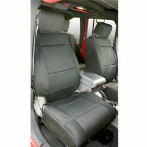 Rugged Ridge 13214 01 Black Neoprene Front Seat Covers For Jeep Wrangler