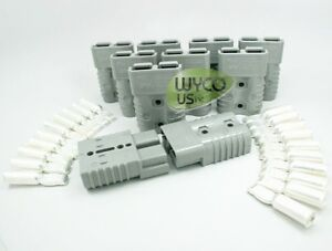 10 pack Anderson Connector Sb175a 600v 1 0awg 1 0 Gauge big Gray 3 x2 x1