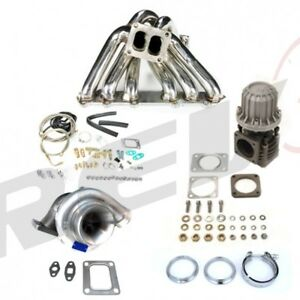 Toyota Supra Soarer 1jz 1jzzgte T4 68ar Top Mount Stainless Turbo Charger Kit