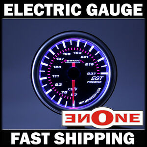 52mm Mk1 Tinted Led Exhaust Gas Temp Temperature Egt Gauge Kit With Probe