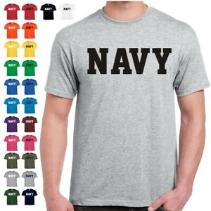 US NAVY Physical Training Military PT T Shirt 24 Color Combinations 8 Sizes $9.99