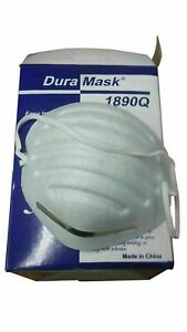 White Dura Mask 1890q Non toxic Particulate Std Respirator W Filter 500 Pieces