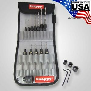 Snappy Professional Drill Bit Adapter Countersink Quick Change Set Made In Usa