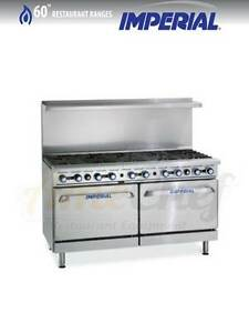 New 60 Gas Commercial Range 10 Open Burners 2 Ovens Imperial Ir 10