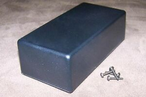 Black Plastic Electronic Project Box Enclosure Case 5 X 2 5 X 1 6 2 Pcs Usa Made