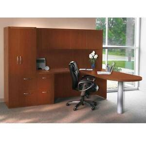 Mayline Aberdeen Executive L shaped Desk Package
