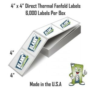 6000 Fanfold 4 X 4 Direct Thermal Labels Shipping Barcode Labels Zebra Ups