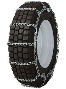 11 22 5 11r22 5 Tire Chains 7mm Link Cam Snow Ice Traction Commercial Truck
