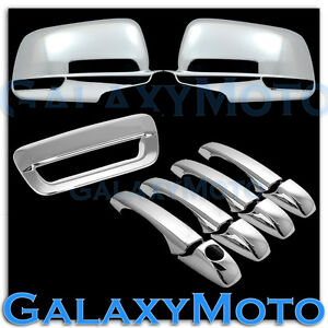 Chrome Full Mirror 4 Door Handle tailgate Cover For 14 16 Jeep Grand Cherokee
