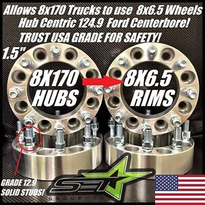 8x170 To 8x6 5 Wheel Adapters 1 5 Inch 38mm 8 Lug Chevy Dodge Wheels On Ford