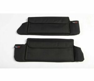 Rugged Ridge 13305 07 Black Sun Visor Organizers For Jeep Wrangler