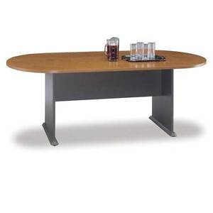 Bush Series Conference Table Natural Cherry Racetrack Series A C