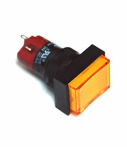 10pc Deca Pushbutton Switch D16lmt1 1ab Spst Momentary Neon Lamp Ac220v Or 110v