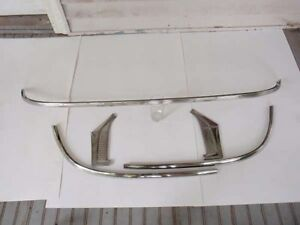 1955 Ford Victoria not Crown oem Back Glass Moldings 5 Pieces