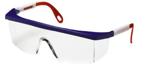 Clear Lens Safety Glasses Red White Blue Frame 12 box 24 Boxes Ms97242