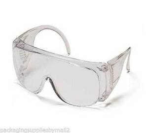Visitor Spec clear Safety Glasses W clear Lens 12 Per Box 6 Boxes Ms97200