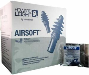 Howard Leight Dpas 1 Airsoft Reusable Earplugs 100 box W uncord 3 Bxs Ms92270