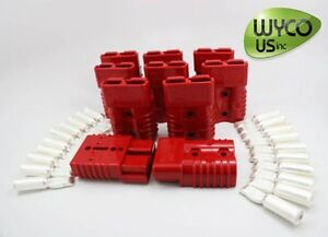 Anderson Connector Sb175a 600v 2awg 2 Gauge Big Red 3 x2 x1 Lot Of 10