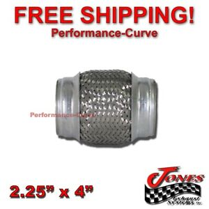 2 25 X 4 Exhaust Flex Pipe Tube Stainless Steel Triple Ply