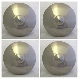 1949 1950 Ford Polished Stainless Steel Blank Hub Poverty Center Cap Set Of 4