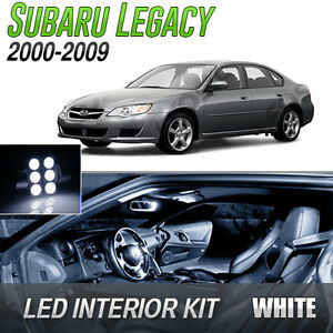 2000 2009 Subaru Legacy White Led Lights Interior Kit