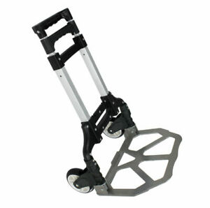 Compact Folding Aluminium Hand Truck Trolley Luggage Cart Foldable Dolly Push