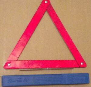 Road Side Safety Triangles Reflective Emergency Marker Flare 16 Tall set Of 2