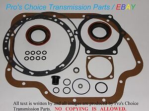 Gm Th400 Turbo Hydramatic Th 400 Automatic Transmission External Seal Reseal Kit