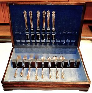 Rogers Bridal Veil Sterling Silver Flatware Set For 6
