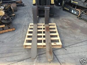 Shaft Mount Forklift Forks 1 75 X 6 X 60 X 25 50 x 3 25 x 2 Back Height New