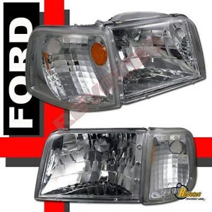 93 97 Ford Ranger Headlights Corner Signal Lights 4pcs Set
