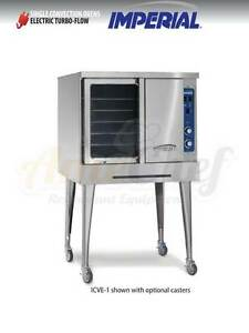 New Commercial Electric Convection Oven Full Size Single Deck Imperial Icve 1
