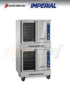 New Commercial Electric Convection Oven Full Size Double Deck Imperial Icve 2