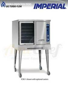 New Commercial Gas Convection Oven Full Size Single Deck Imperial Icvg 1