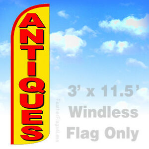 Antiques Windless Swooper Flag 3x11 5 Feather Sign Flag Yq