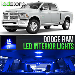 2009 2018 Dodge Ram 1500 2500 3500 Blue Interior Led Lights Kit Package
