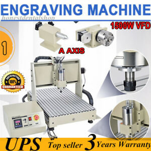 1 5kw 4 Axis 6040t Cnc Router Engraver Engraving Milling Drilling 3d Graphic Usa