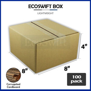100 8x8x4 Cardboard Packing Mailing Moving Shipping Boxes Corrugated Box Cartons