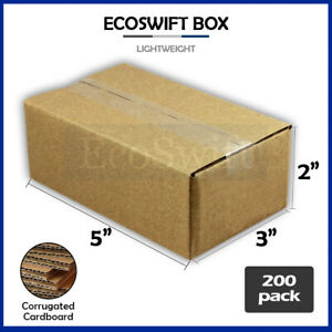 200 5x3x2 Cardboard Packing Mailing Moving Shipping Boxes Corrugated Box Cartons