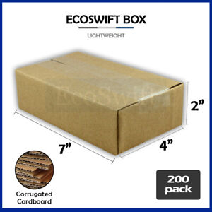 200 7x4x2 Cardboard Packing Mailing Moving Shipping Boxes Corrugated Box Cartons