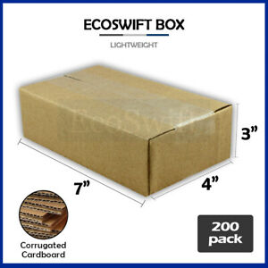 200 7x4x3 Cardboard Packing Mailing Moving Shipping Boxes Corrugated Box Cartons