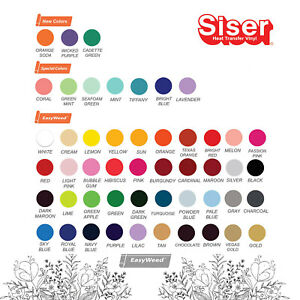 Siser Easyweed Heat Transfer 15 X 25 Yd Choose From 38 Colors Your Choice