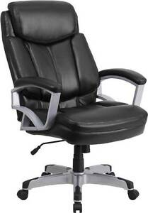 Hercules Series 500 Lb Capacity Big Tall Black Leather Executive Office Chair