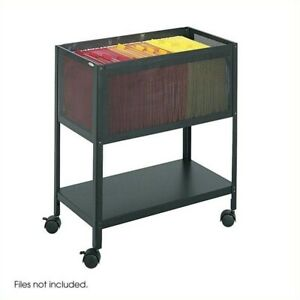 Filing Cabinet File Storage Tub With Open Top Mobile Letter Black Locking Drawer