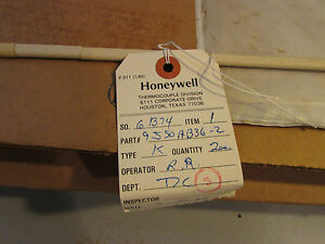 Honeywell Thermocouple 9j50ab36 2 Type K 38 Ceramic